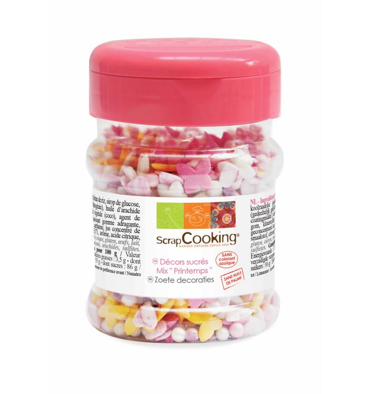 Pot of Spring sugar deco mix 120 g