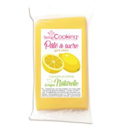Pâte à sucre jaune goût...