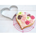 XXL stainless steel Heart cookie cutter mould