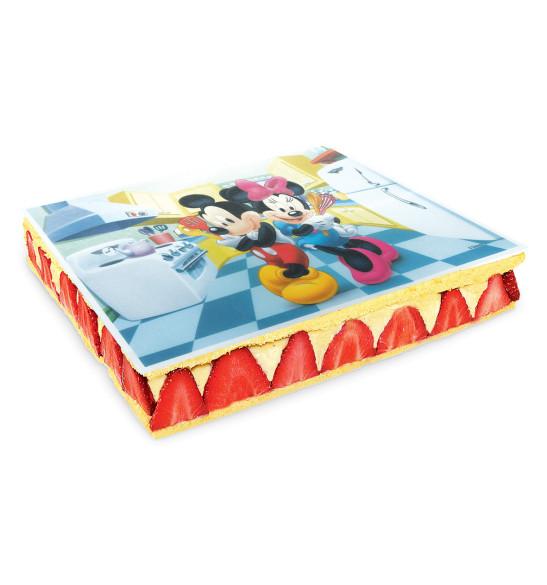 Rectangle azyme Mickey & Minnie