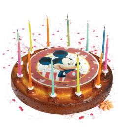 Ambiance gâteau avec disque azyme Mickey 20 cm réf.1325MM