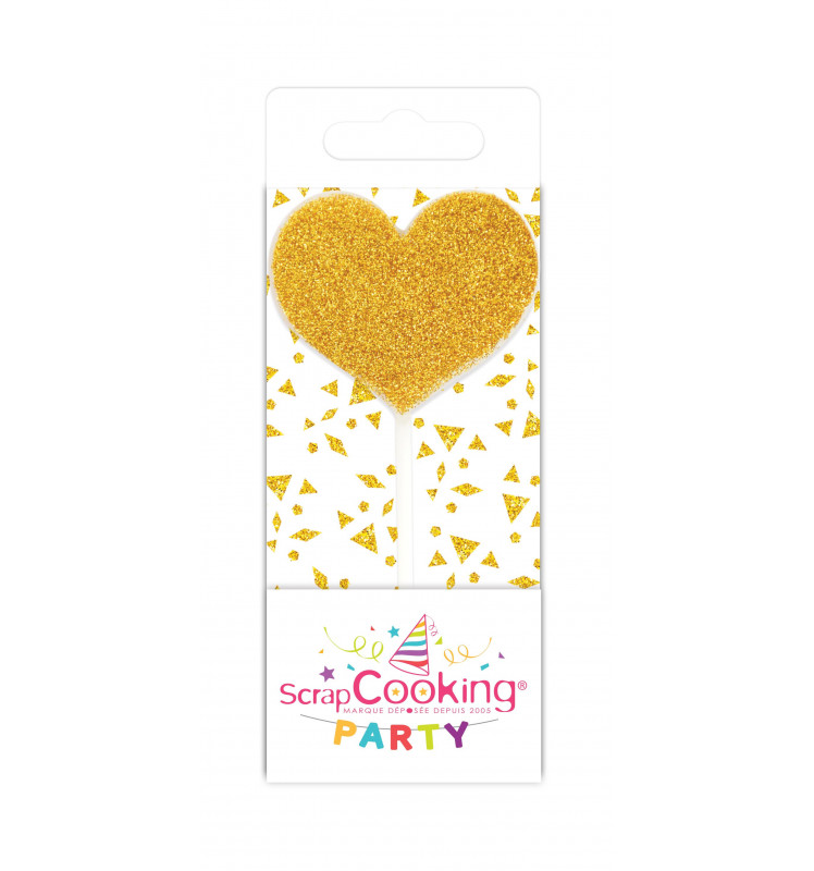 Mini candle silver / gold heart