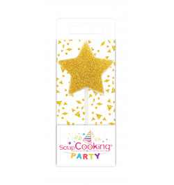 Mini candle silver / gold star