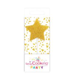 Mini bougie étoile dorée