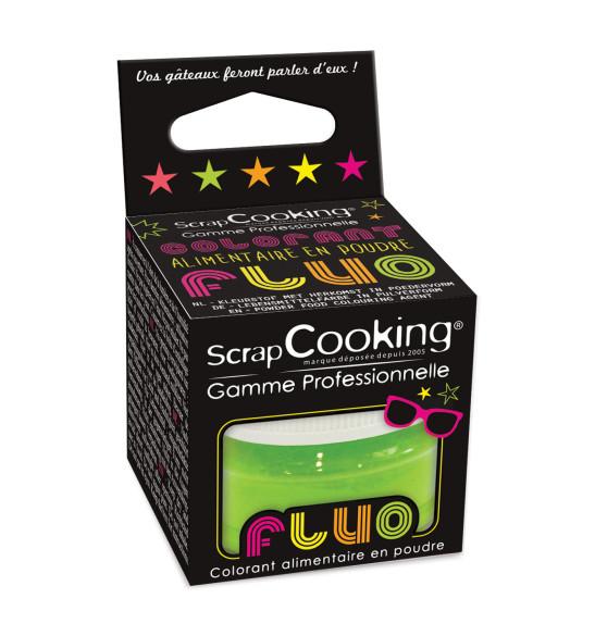 Colorant alimentaire en poudre vert fluo 3g