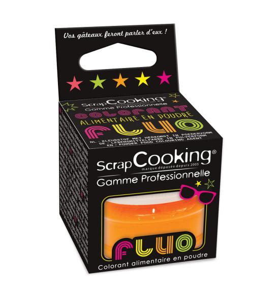Colorant alimentaire en poudre orange fluo 3g