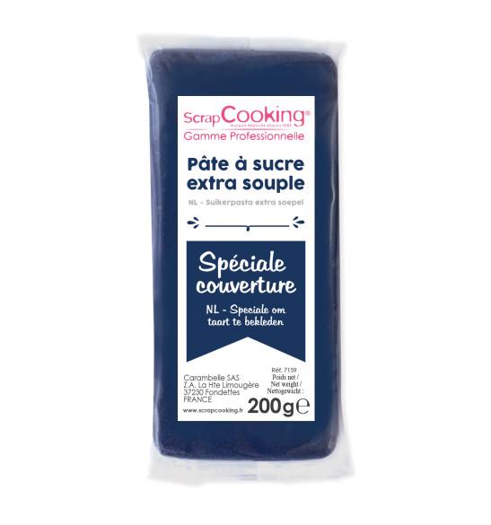 Pâte à sucre de couverture bleu foncé 200 g