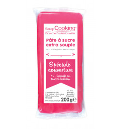 Pâte à sucre de couverture fuchsia 200 g 7144