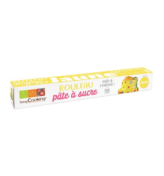 Pâte à sucre prête à l'emploi rouleau jaune Ø36 cm