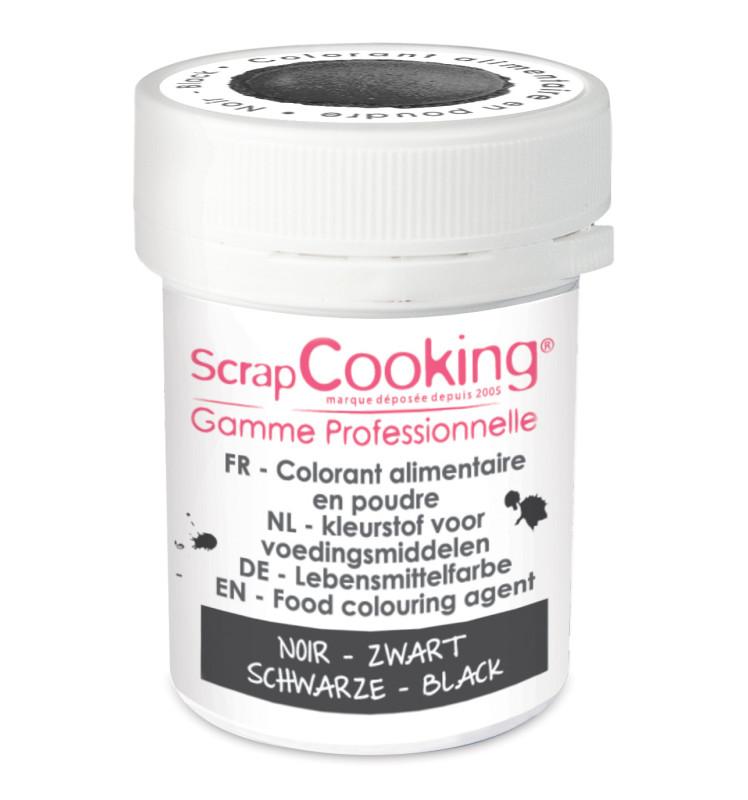 Colorant alimentaire en poudre noir 5 gr