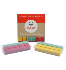 Recharge de 6 cartouches de chocolat couleur PandaColor®