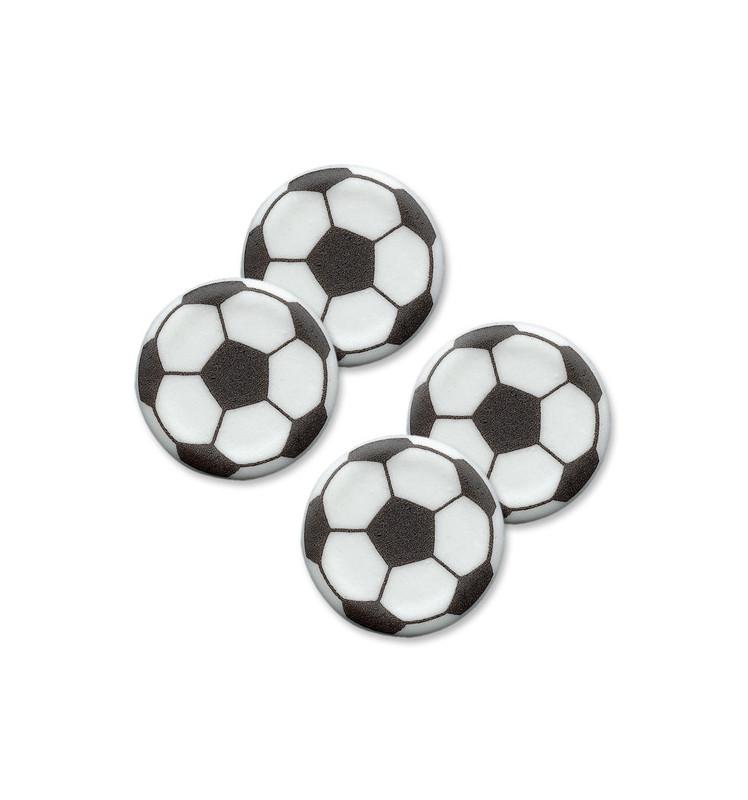 Décosucres ballons de foot en pot x 4