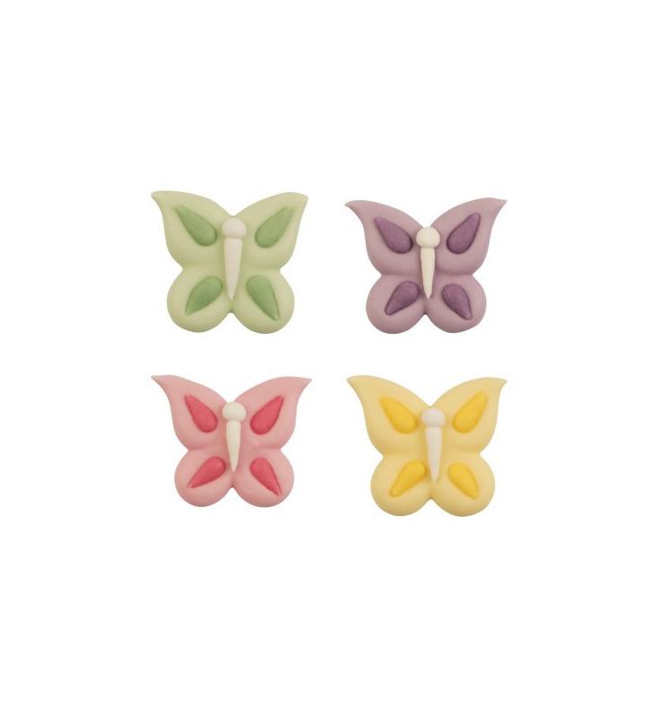 Décosucres papillons assortis x 4