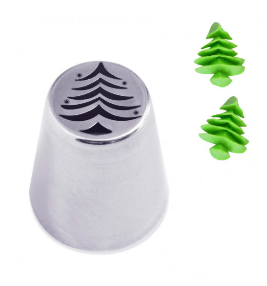 Stainless steel Christmas tree piping tip