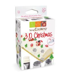 Kit douilles 3D Christmas réf.1823