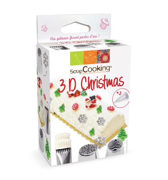 3D Christmas piping tip kit