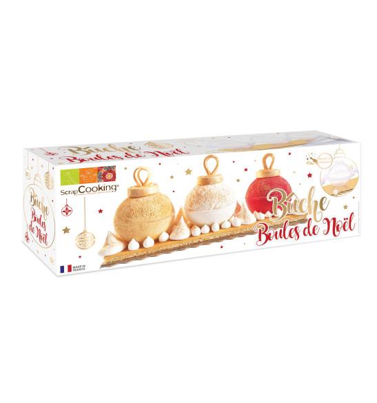 Kit moule bûche boules de Noël