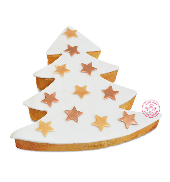 XXL stainless steel Christmas tree cookie cutter mould
