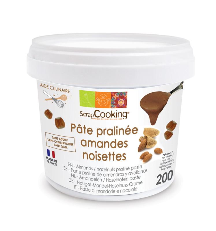 Pâte de praliné amandes-noisettes 200 gr