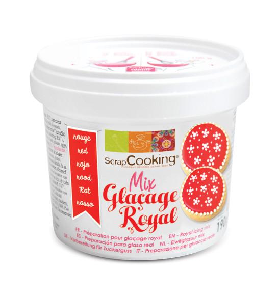 Pot mix glaçage royal rouge