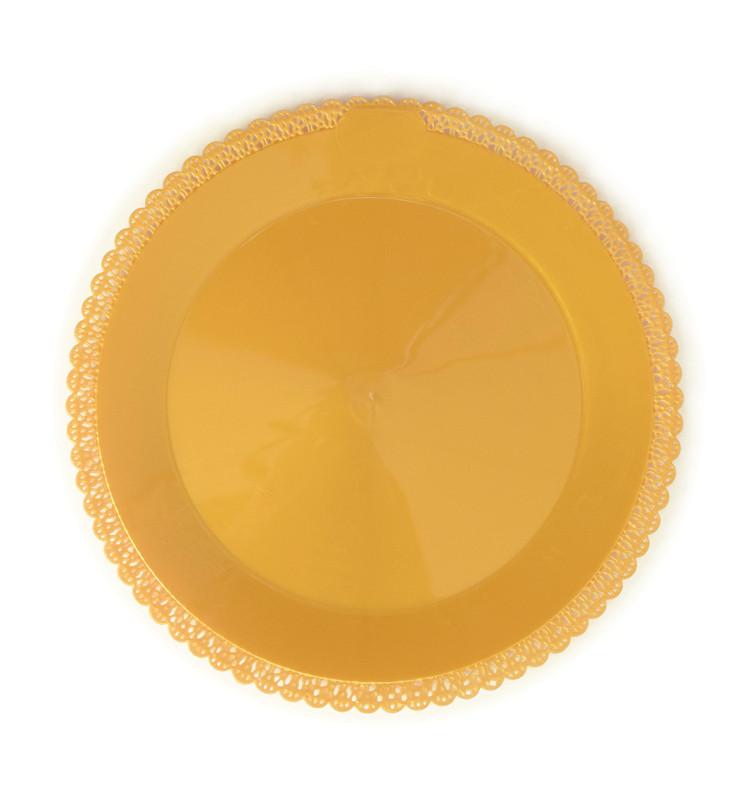 Plat dentelle or rond Ø 32 cm