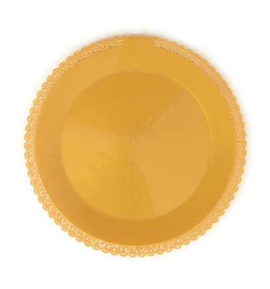 Plat dentelle rond Ø 32 cm doré