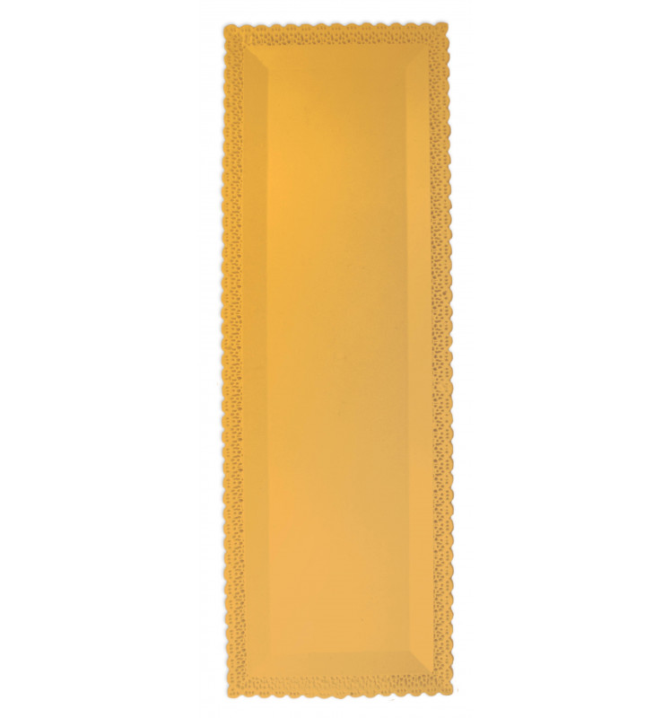 Plat dentelle rectangulaire 13x40 cm or