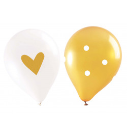 6 ballons gold réf.0338