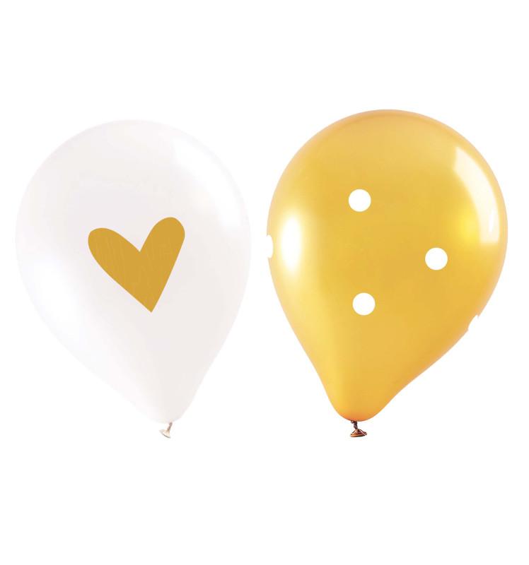 6 ballons gold