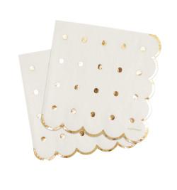 20 Gold motif paper napkins