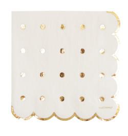20 serviettes gold réf.0237