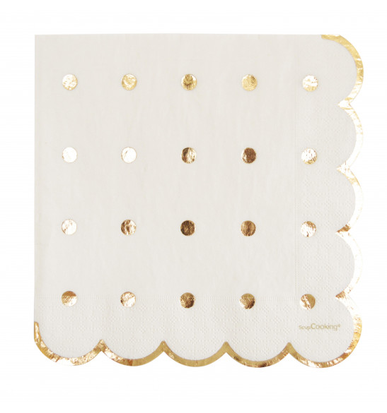 20 serviettes gold