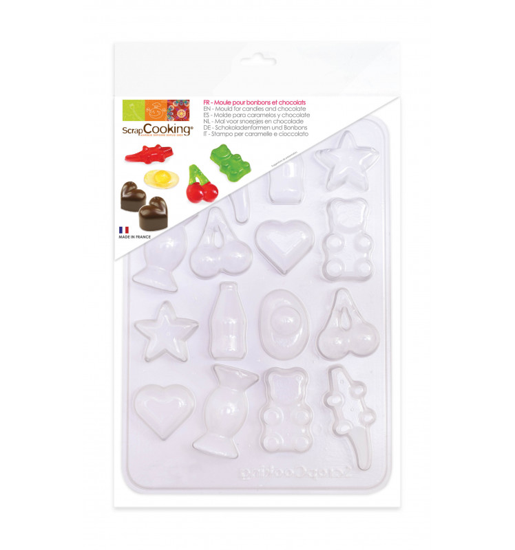 Blister mould for 16 sweets and chocolates