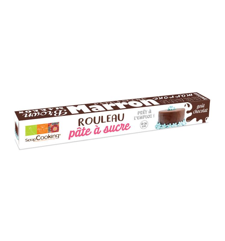 Pâte à sucre prête à l'emploi rouleau chocolat Ø36 cm