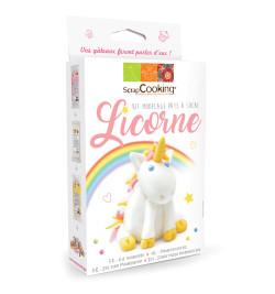 Kit modelage licorne en pâte à sucre réf.3933