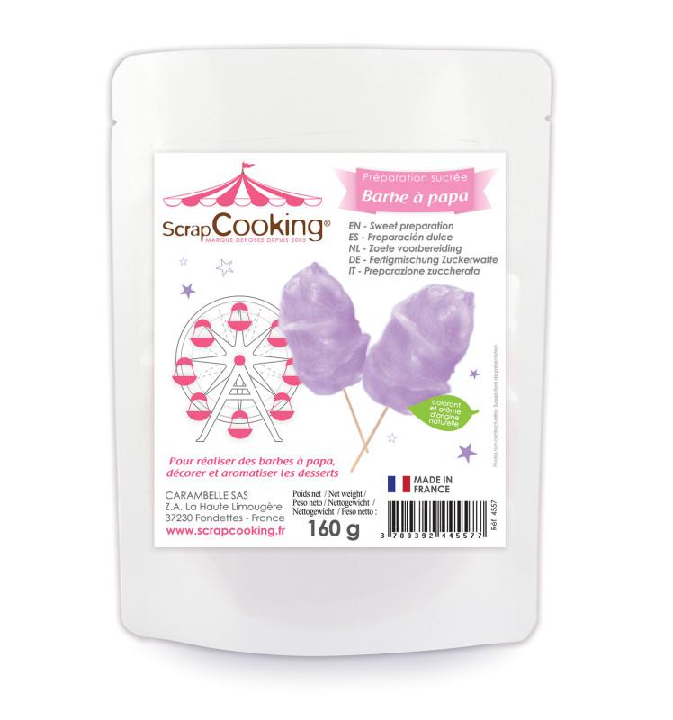 Violet cotton candy mix 160g