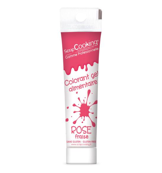 Colorant gel rose fraise 20 gr