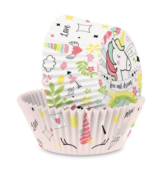 "+/- 36 Unicorn cupcake cases"""