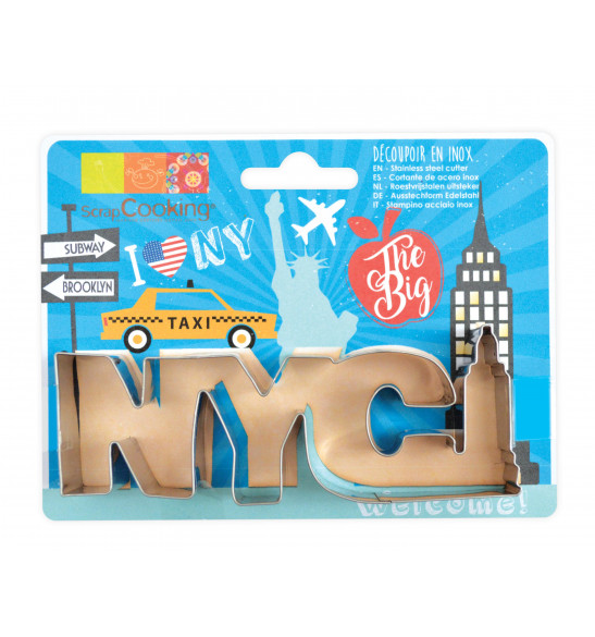 "Stainless steel ""NYC"" cookie cutter"
