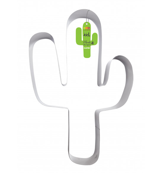 XXL Cactus cookie cutter mould