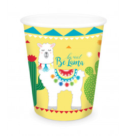 8 Lama paper party cups
