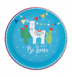 8 Lama paper party plates