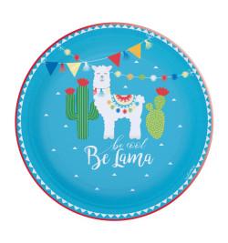 8 assiettes lama Ø 23 cm réf.0218