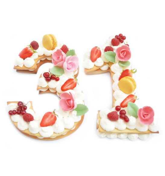 Box number cake