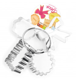 4 Deco cookie cutters on a...
