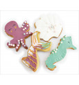 Set of 4 Mermaid cookie cutters