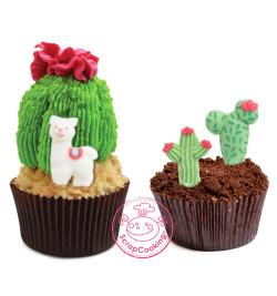Cupcakes avec décosucres Lama