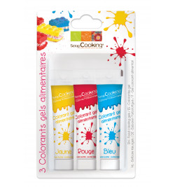 Lot color'gels x3 rouge/ bleu/ jaune
