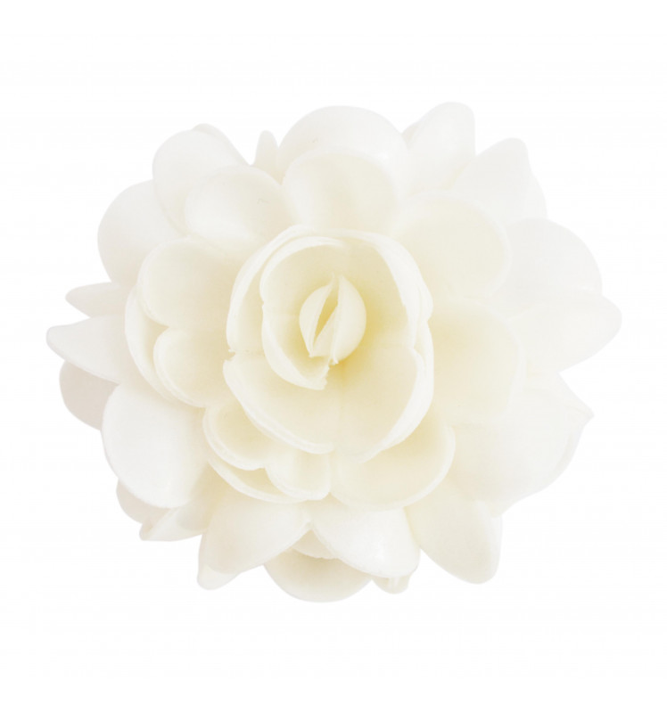 XXL white flower edible wafer decoration approx. 10cm
