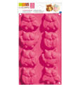 ScrapCooking® silicone mould with 8 owl cavities